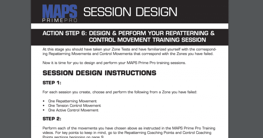 Prime Pro Session Design